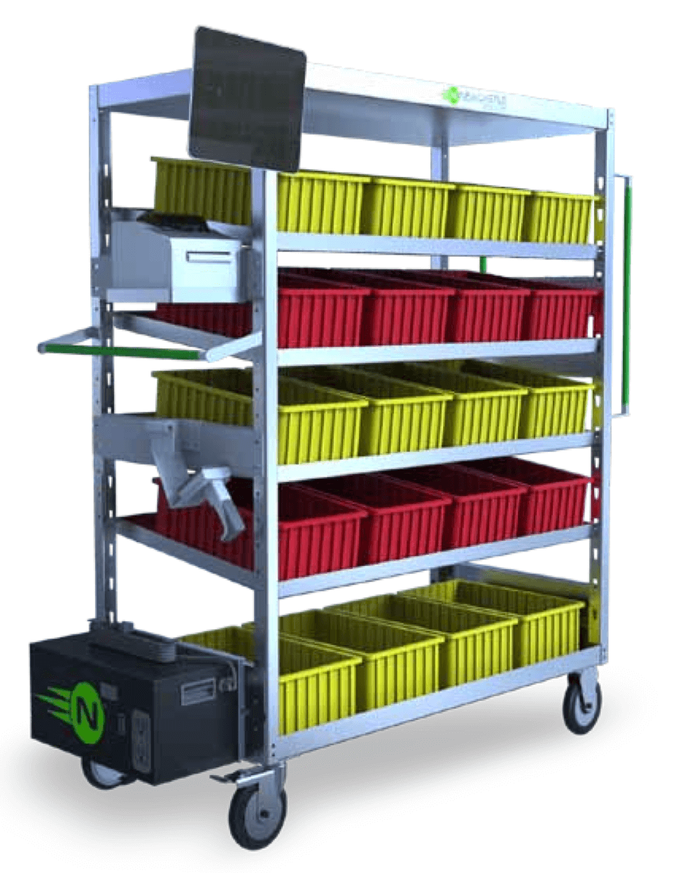 order picking cart with power