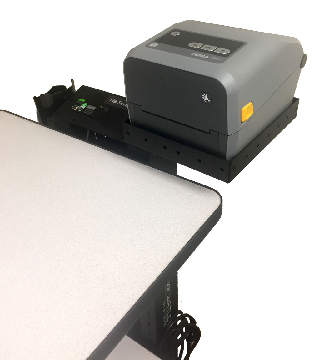 B146 Small Printer Shelf for NB & PC Series Mobile Powered Workstations by Newcastle Systems